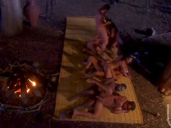 Horny Big Breasted Aborigines Get Fucked In Group Sex Orgy