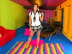 Hot Brunette Schoolgirl Teen Angelica Heart Getting Fucked In POV Vid