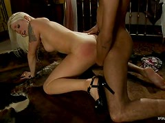 Hot Blonde Lorelei Lee Gets On Doggy Position And Waits For a Big Cock