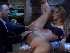 Sexy Milf Fucks Her Security Outdoors