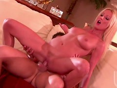 Blonde Nympho Bounces On A Big Cock