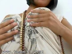 Beads in busty women anus