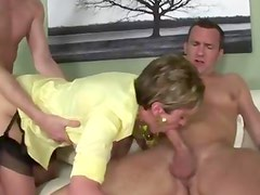 British threesome fuck cumshot