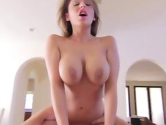 Brunette sexy massage babe fucked hard and deep