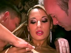 Dirty girl fuck scene with a DP