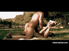 Sensual blowjob and fuck on a sunny day