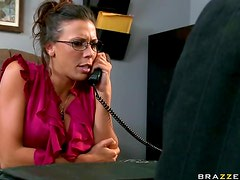 Sexy Office Slut Rachel Starr Gets Her Deep Throat and Big Tits Fucked