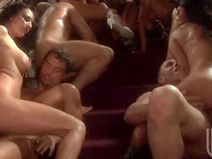 Amazing Hardcore Orgy With Eight Busty and Hot Pornstars