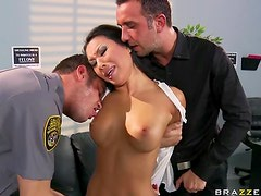 Gorgeous Asian Slut Asa Akira Gets a Double Penetration and a Facial