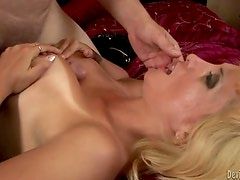 Hawt Blonde milf with biggest tits gets fucked by big hard cock