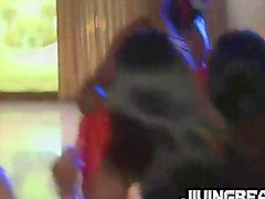 Brides maid crazy with stripers pipe