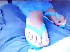 Amputee getting sexy nurse footjob