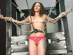 Bondage and punishment of skinny girl