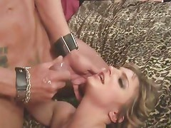 Lexi Love gets her face splattered with warm cum