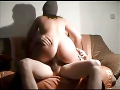 Amateur Curvy Riding Cock on Homemade