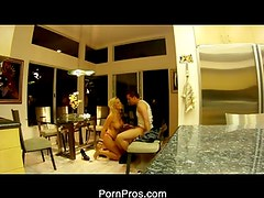 Cheating Blonde caught on tape