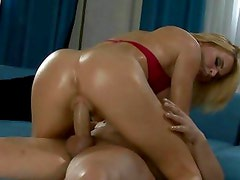 Krissy Lynn rides her hot pussy on this huge cock