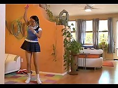 Young school girl Nicole Ray loves fucking old dudes