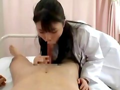 Slutty japanese nurse gives hot bj