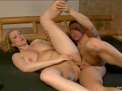 Amateur Blonde Mature Gets Fucked and Receives a Thick Cum On Tits