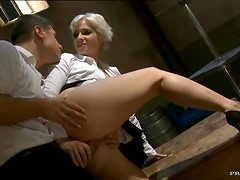 Blonde Anal MILF Joanna Roman Gets Her Round Ass Fucked and Creampied