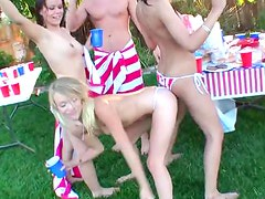 Pool Sex In Wild 4th Of July Party