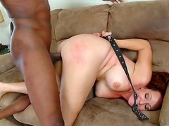Big Assed Redhead MILF Kitty Caulfield Goes Interracial On a Black Cock