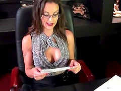 Sensual British Brunette Valentina Cruz Gets Fucked At The Office