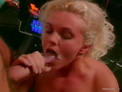 Cock-Craving Blonde and Brunette Babes Go Wild At a Blowjob Contest