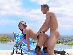 Sinful Brunette MILF Alektra Blue Gets Fucked In a Sex Maid Uniform
