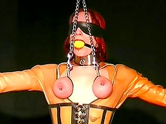 Collars and latex in BDSM video