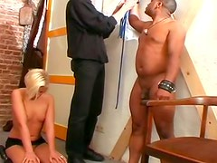 Bondage kink and hardcore foursome sex