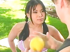 Busty Asian Teen Fingered & Slam...