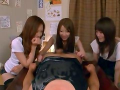 Three Japanese Girls Vs One Guy
