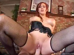 Kinky redhead milf Bailey O'Dare gets her snatch fucked from behind
