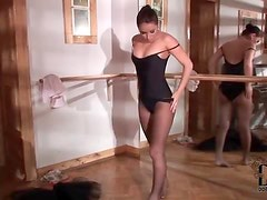 Ballerina dances and strips sensually