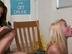 Watch blonde college teen suck on cock