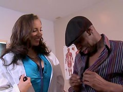 Horny Brunette Nurse Kelly Devine Gets Fucked By a Big Black Cock