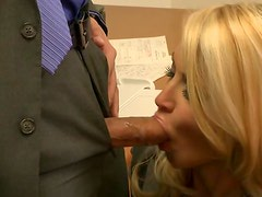 Gorgeous Blonde MILF Jessica Drake Gets Fucked Hard Around The Office