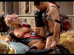 Mistresses Diana Pearl and Michelle Wild Fucked By Their Stunt Horses
