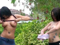 Insanely Hot Tattooed Lesbians Get Fucked Hard In a Wild POV Porn Clip