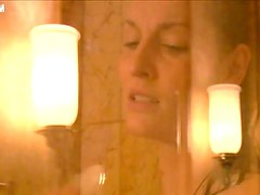 Exquisite Blonde Actress Kristine Blackport Taking a Hot Shower