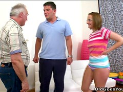 Old Guy Fucks a Busty Teen With No Regrets