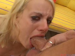 Melanie X deepthroats and enjoys sweet cum in her mouth