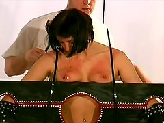 Kinky BDSM with tit torture for girl