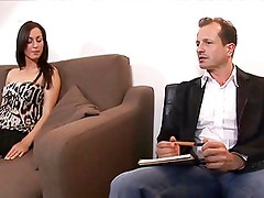 Brunette housewife sucks, rides and bends over to get fucked by her hunky guest