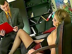 Flirty Secretary Opens Wide To P...