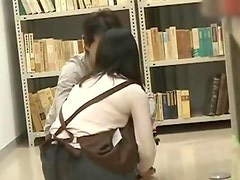 Shy Schoolgirl groped and used in a bookstore