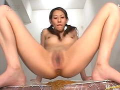 Squirting Japanese Babe Soaking Up The Place