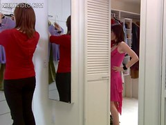 Sexy Natasha Gregson Wagner Gets Horny Trying a New Dress
